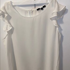 Large White Casual Blouse for Women